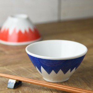 Mt. Fuji At home Japanese Rice Bowl MINO Ware