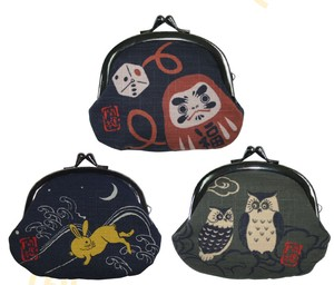 Coin Purse Coin Purse Beckoning cat Amulet Difficulty Couple Daruma Mt. Fuji