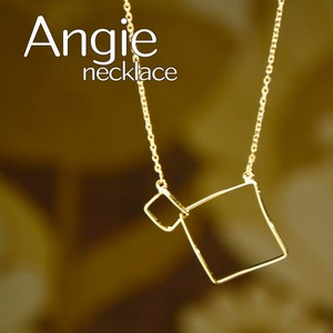 Twin Square Short Gold Necklace