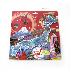Japanese Style Etching Map Puzzle Magnet Sights