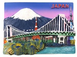 ご当地マグネット 日本夜景◆外国人観光客向け.お土産マグネット◆