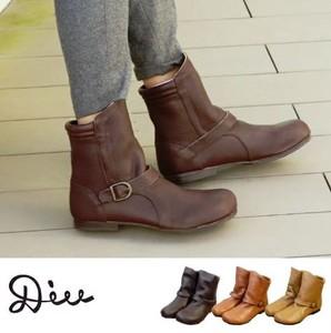 7d9e831cfb62 Oil Leather Short Dark Red Boots Ladies Shoe Shoe