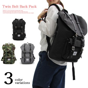 Twin Belt Flap Bag Pack Travel Bag