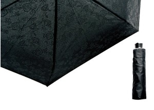 All Weather Umbrella Emboss Floral Pattern Lace