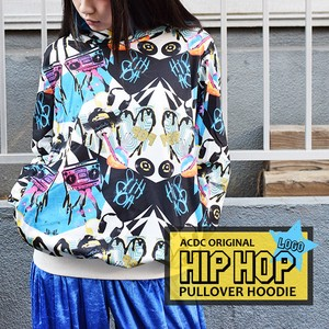 Hoody Hoody Dance Costume Hip Hop Pullover White