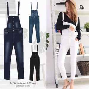 Beautiful Legs Stretch Slim Overall All-in-one Connection Bottom Denim