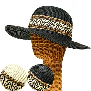 Herringbone Belt Capelin Hat S/S Broad-brimmed Hat Hats & Cap Countermeasure