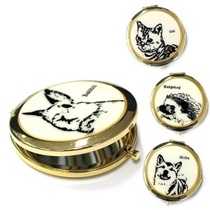 Animal Compact Mirror Rabbit Cat Hedgehog Shiba Dog