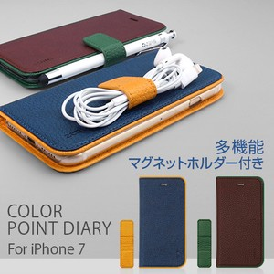 iPhone SE Case Notebook Type Color Point Diary