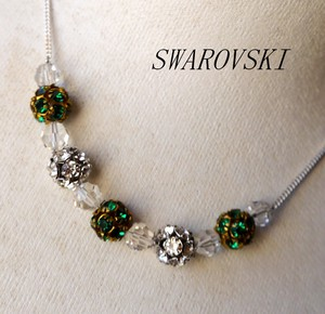 Swarovski Crystal Color Rondel Design Necklace