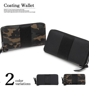 Urethane Canvas Long Wallet Long Wallet Business Casual
