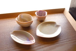 Pottery Sakura Plate Mini Dish Mini Dish Spice Tray Mino Ware Made in Japan