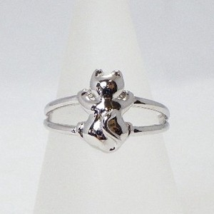 Silver 925 cat Ring