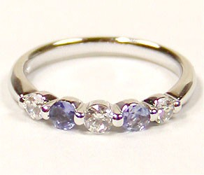 Silver 925 Cubic Natural stone Ring Tanzanite