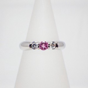 Silver 925 Natural stone Ring Pink Tourmaline