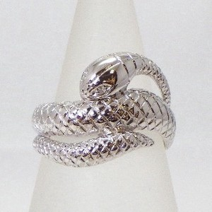 Silver 925 Snake Ring Natural Diamond