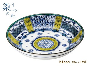 Plate Room Flower 3 Pcs Somenishiki Koimari Ware Mino Ware