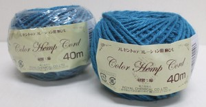 Color hemp Coat Blue