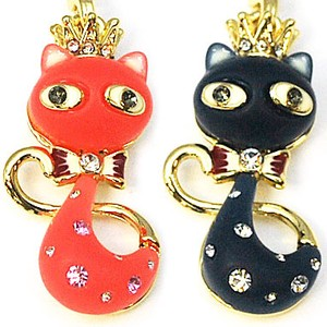 Glitter Crown cat Cat Strap Accessory Charm