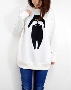 Fleece Big Sweatshirt cat