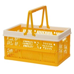 Folding Container Yellow Storage Box Storage Folded
