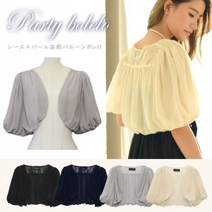 Lace Pearl Decoration Balloon Bolero Bolero Shawl Short Sleeve Balloon