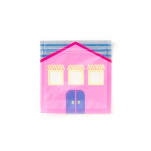 <ジッパーバッグ>Zipper Bag AZA8-05 pink house