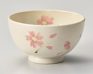 Flower Chirashi Pink Light-Weight Japanese Rice Bowl