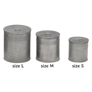 Feel Tinplate Material Set Attached Round Storage