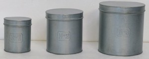 Feel Tinplate Material Set Number Round Storage