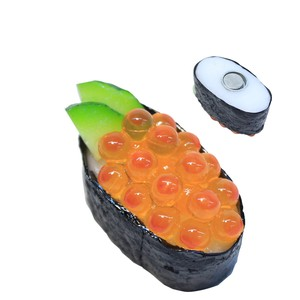 Food Product Sample Magnet Salmon Roe Gunkan