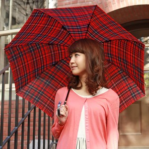 All Weather Umbrella Stick Umbrella Light-Weight Dyeing Checkered Carbon