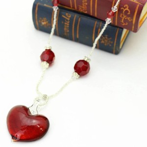 SAORI Necklace Venetian Red Heart Necklace