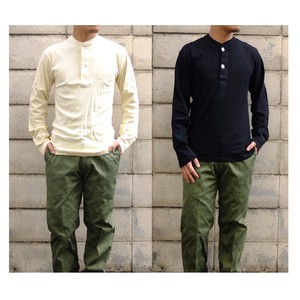 Type Henry Neck Long Sleeve Shirt 2 Colors