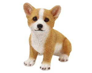 Cheerful Friends Corgi Motion Real Animal Mascot Ornament