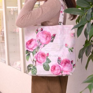 Rose Tote Bag Light-Weight Waterproof Inside Pocket Attached