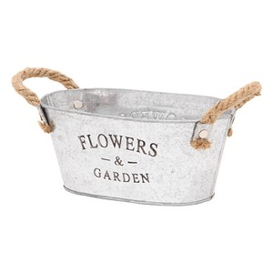 Flower Plant Bucket Oval Size S 3 Colors