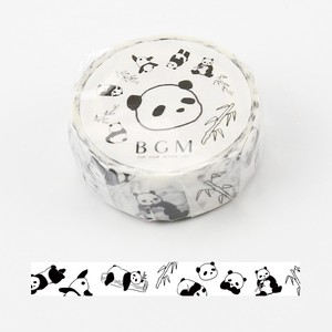 [BGM] Washi Tape  / Masking Tape Black White Panda Bear Washi Tape