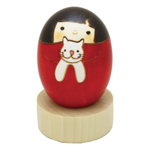 Saburo Kokeshi cat Seal Japan