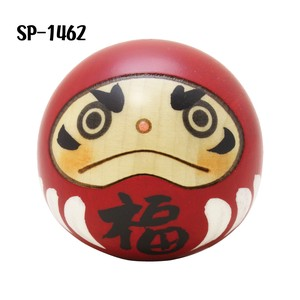 Saburo Kokeshi Happiness Daruma Ornament