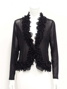 Black soft Power Net Frill Jacket