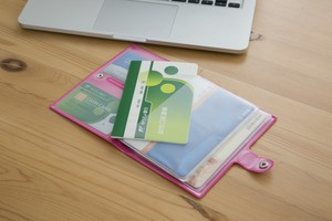 Passbook Card SEAL Case Book Clover Rose