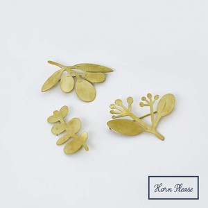 Brass Brass Brooch Botanical