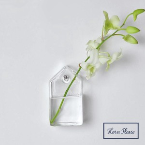 Glass Flower Vase Hanging House Tall