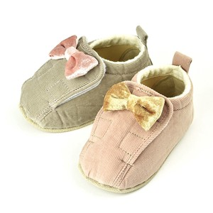 Baby Velour Ribbon Open Shoes