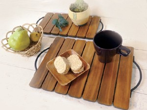 Handle Tray Wooden