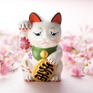 Artisans Hand-writing Sakura Beckoning cat Pearl