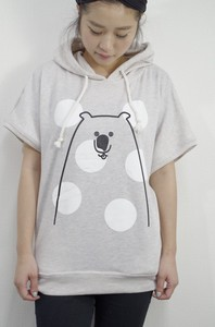 Sweat Short Sleeve Hoody Dot bear