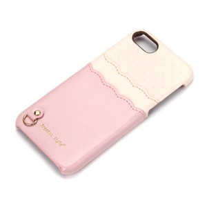 iPhone 7/6s/6用 バックポケットケース Scallop Dot