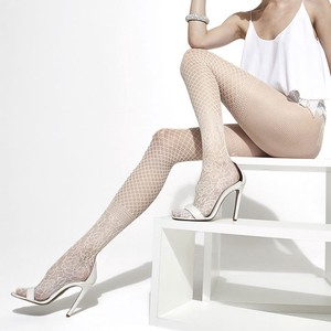 Floral Pattern Net Stocking
